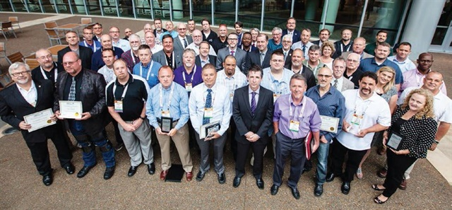 Many of  the 2016 Leading Fleets awards recipients are pictured here after The Honors Celebration at the Government Fleet Expo & Conference on June 21.