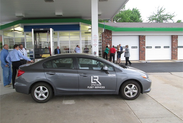 Little Rock hosted a grand opening ceremoning for its CNG fueling station on April 29. Photo courtesy of City of Little Rock