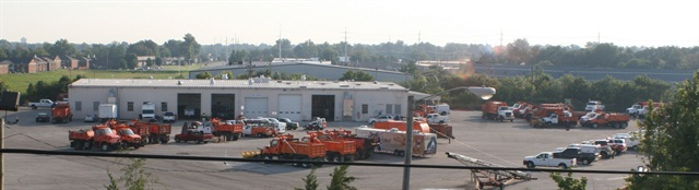Louisville Metro merged its five maintenance shops into two — the heavy equipment shop is pictured above.