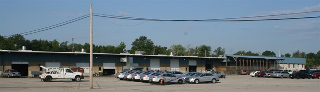 Louisville Metro merged its five maintenance shops into two — the sedan shop is pictured above.