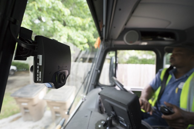 The City of Mobile, Ala., installed Lytx's DriveCam event recorder in many of its vehicles, including refuse trucks. Photo courtesy of Lytx