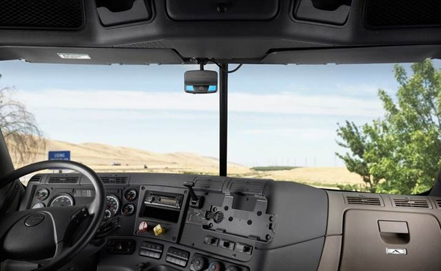 Smaller but more powerful means in-cab cameras are no longer as visible or intrusive for drivers as early models were. Photo: Lytx