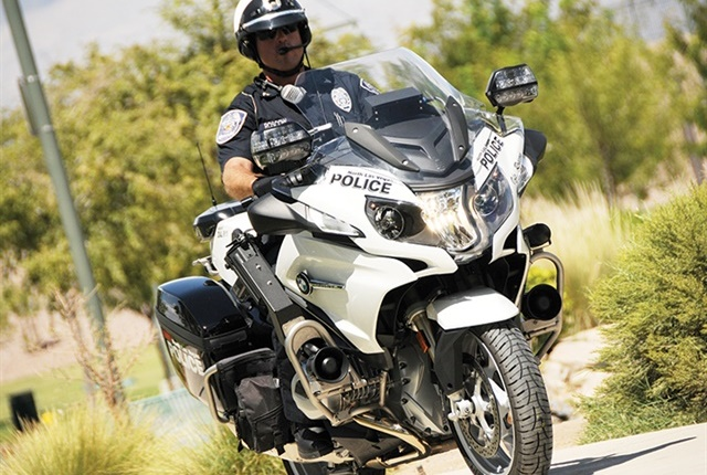 Police motorcycle photo courtesy of BMW