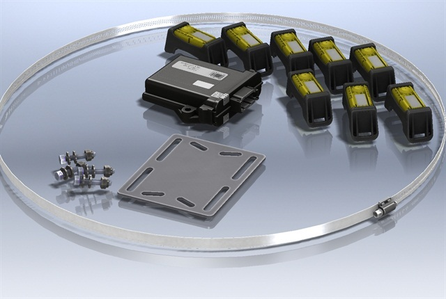 The SmartTire TPMS by Bendix CVS.