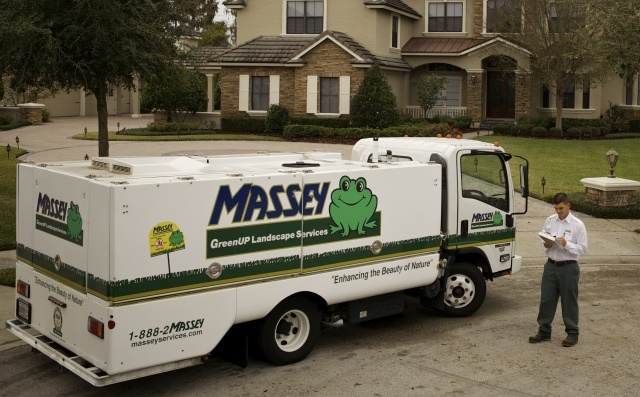 The 1,777-vehicle fleet mostly utilizes light-duty trucks and utilizes upfitting in its GreenUP landscaping business as well as its pest control fleet. (Photo courtesy of assey Services)