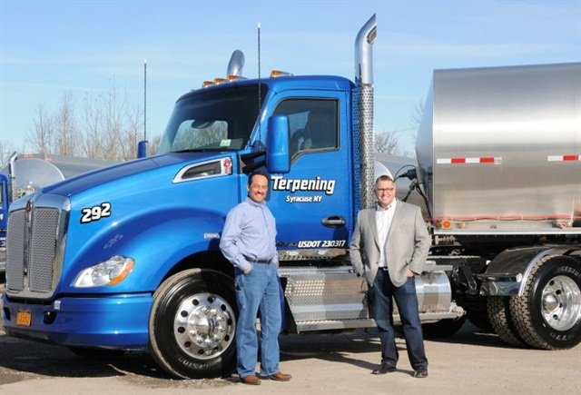 Rich and Craig Terpening, fourth-generation owners of New York-based Terpening Trucking, believe their company's size allows them to respond quickly to customers. Photo: Kenworth