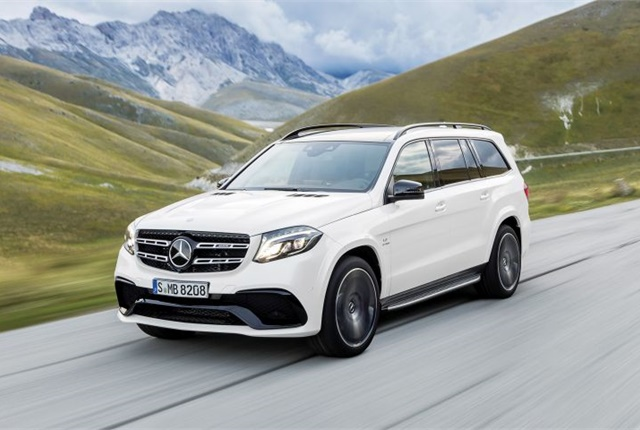 Photo of Euro-spec 2017 GLS courtesy of Mercedes-Benz.