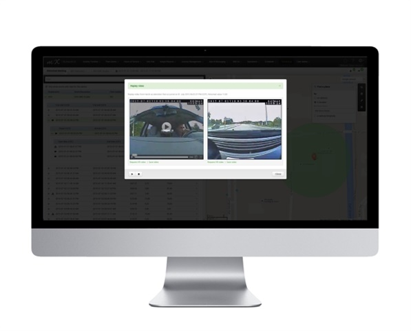 MiX provides an option for adding fully integrated video camera solutions to enhance driver behavior, safety, and subrogate claims.  (Image courtesy of MiX Telematics)