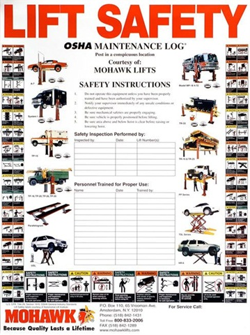 Technicians should perform a daily operational safety check of vehicle lifts. Additionally, they should also be inspected annually by a qualified individual.