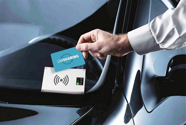A keyless solution, such as one offered by INVERS, allows drivers to use a card to unlock the vehicle and access the keys inside. Photo courtesy of INVERS