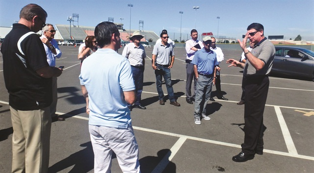 At a recent NAFA fleet management association meeting for the Pacific Southwest Chapter, Phil Moser and the ADTS team demonstrated three safe driving courses that covered backing up and driving around cones, steering around an obstacle and threshold braking. Each attendee had a chance to practice his or her driving skills on the courses.