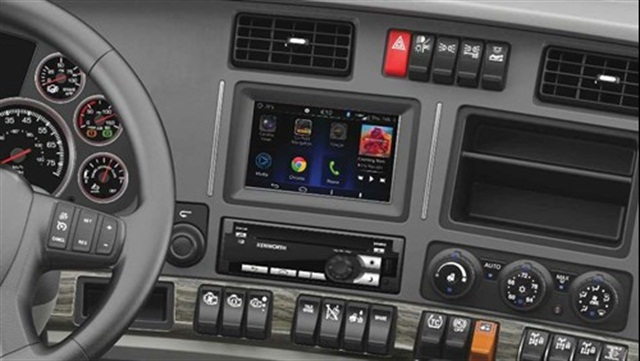 The Nav+ HD system. Photo via Kenworth