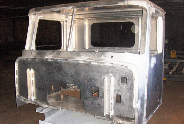 T-Line's aluminum cab, built by a body maker in Wisconsin, can be altered for specialty applications.Photo: Diamond Specialty Vehicles LLC
