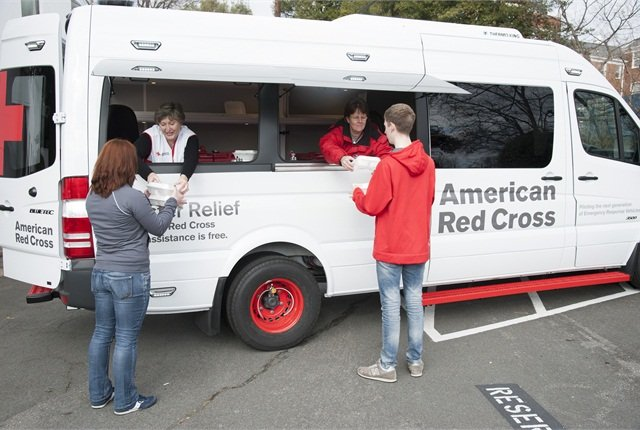 The new ERV features an awning that can provide American Red Cross clients with protection from inclement weather. Photo courtesy American Red Cross.