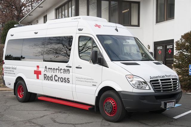 The American Red Cross chose the Freightliner Sprinter as the platform for its new Emergency Response Vehicle (ERV). Photo courtesy American Red Cross.