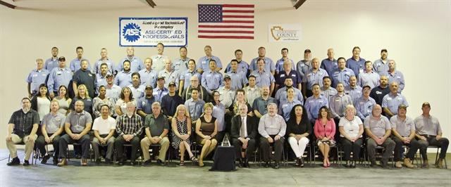 San Bernardino County, Calif., fleet's No. 1 Leading Fleet award represents the hard work of its entire operation.Photo courtesy of San Bernardino County