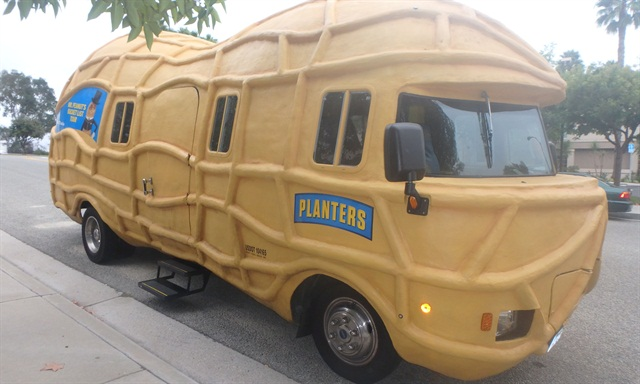 The Nutmobile'sfiberglass shellsits on an Isuzu two-ton cab and chassis. Photo by Amy Winter-Hercher