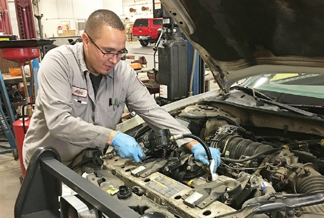 The City of Phoenix is beginning a preventive maintenance overhaul — a core element is oil change intervals. Photo courtesy of City of Phoenix