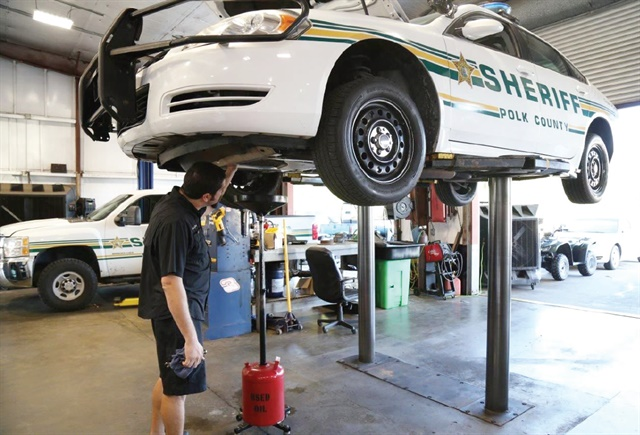Polk County Sheriff's Office in Florida has extended its oil change intervals to 30,000 miles and filter change intervals to 10,000 miles.Photo courtesy of Polk County Sheriff's Office