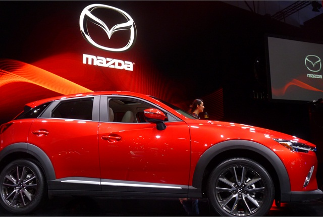 "The new Mazda CX-3 compact crossover continues automaker's chase of ""young, active buyers."""
