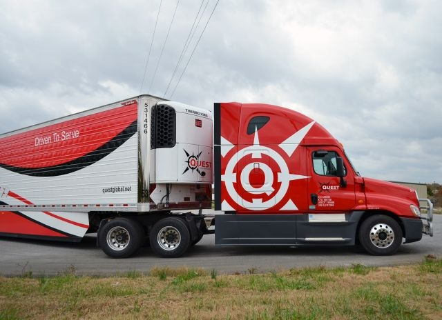 As part of a 2012 rebranding effort, Quest Global gave all of its haulers a refreshed look that mimicked the company's new visual direction.