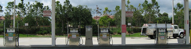 Palm Beach County has been using the E.J. Ward fleet fuel management system since 1984. Fleet management division director Doug Weichman, CAFM, said the County uses 6 million gallons of fuel annually. Photo courtesy of Palm Beach County