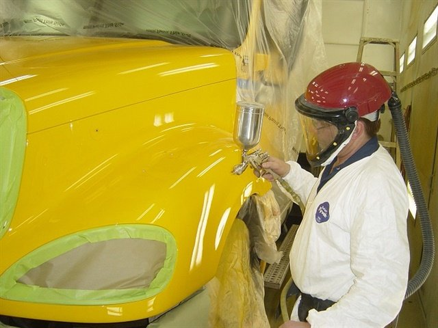 Resale values and corporate image are two major reasons Penske makes repairing body and paint damage a priority. Photo: Penske
