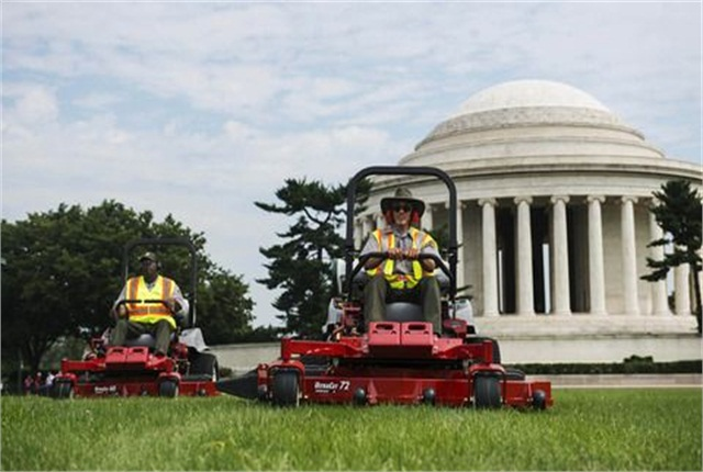 The National Park Service celebrated the propane mowers' first use on June 24.Photo by Amanda Voisard