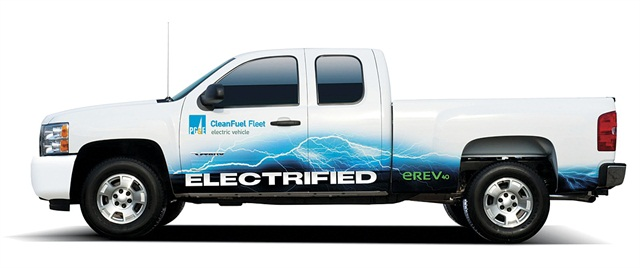 Photos courtesy of VIA Motors. PG&E has been testing the plug-in hybrid pickups and is likely to make additional purchases to the four vehicles already in fleet.