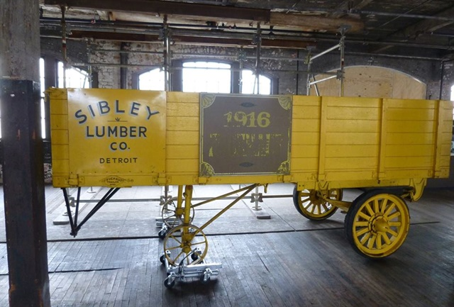 An early Fruehauf trailer is preserved in Detroit, where the man worked and his company was headquartered. Photos courtesy of Ruth Ann Fruehauf