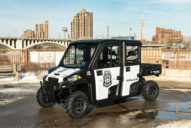 Polaris donated 10 Ranger utility vehicles to the Minneapolis Police Department for use during the Super Bowl. Photo courtesy of Polaris