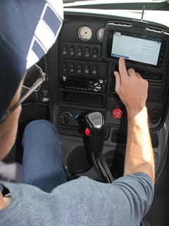 Cab-Mate One is a plug-and-play electronic logging device.