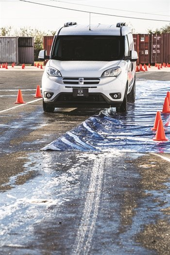While electronic stability control (ESC) is now standard on all vehicles, commercial vehicles take the technology one step further. Built on a foundation of anti-lock brakes and traction control with independent control at each wheel, the Ram ProMaster City's ESC system leverages a suite of active handling technologies — including adjusting to the weight of the load and offering greater control on uneven surfaces.Photo courtesy of Ram.