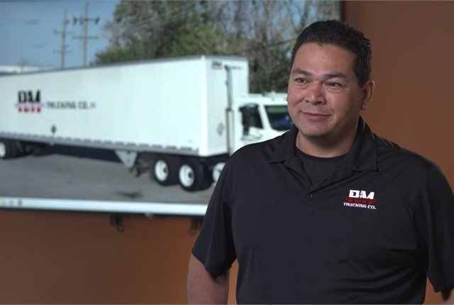 Mike Narvaez, safety and compliance director for R&M, talks about the benefits of getting rid of piles of paper. Photo: Fleetmatics