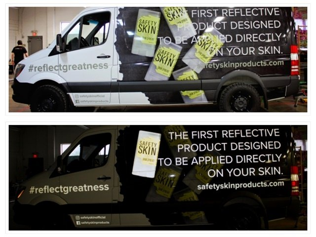 4b819f5356 Reflective graphics greatly increase visibility in the dark