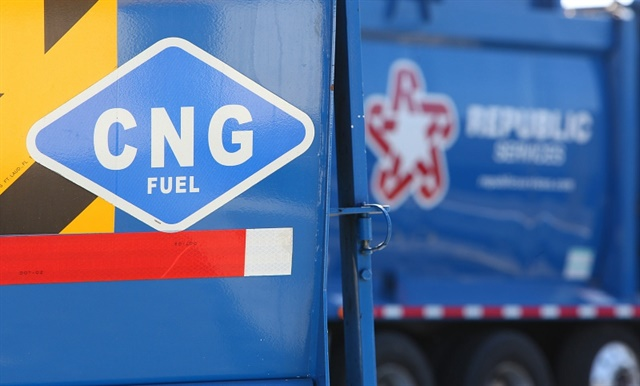 Republic Services collects trash with 2,500 CNG-fueled trucks and the number is growing. Last year it avoided burning 21 million gallons of diesel.
