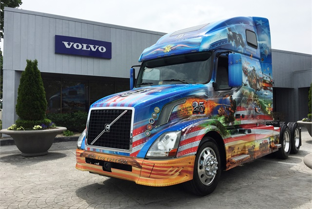 This newly decorated truck will participate in the annual Memorial Day Ride for Freedom. Photo by Deborah Lockridge.