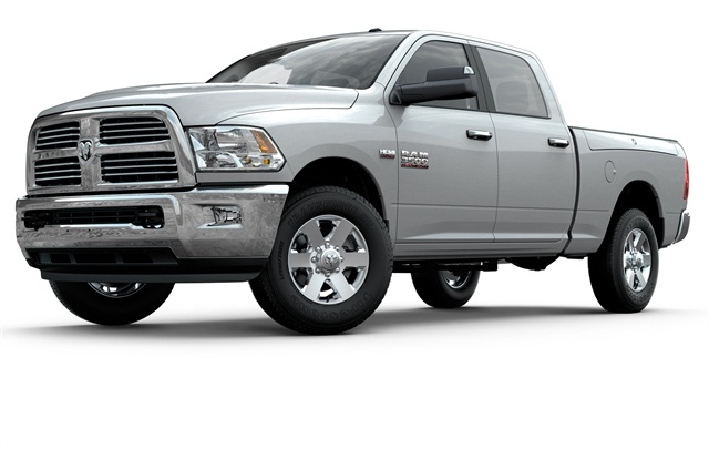 <p>Ram 2500 and 3500 HD pickups now have choice of 5.7- and 6.4-liter Hemi gasoline V-8s or Cummins Turbo Diesel. Hemi 6.4 will also extend gasoline option to formerly diesel-only Ram 4500 and 5500 chassis-cabs.</p>