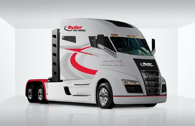 Ryder System was among the first companies onboard with Nikola Motor Company's H2 fuel-cell-powered highway tractor. Photo: Ryder