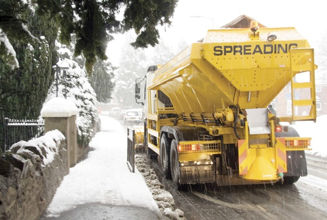 Current technology allows fleet and public works personnel to see how much salt is being used.