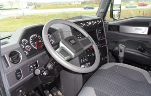 The interior is nicely appointed  with east-to-use controls and legible instruments.