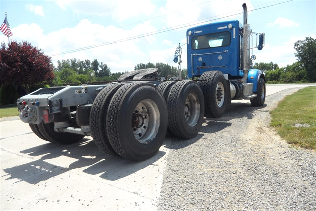 Tractors with gross-weight ratings of over 59,600 pounds, like this heavy haul model, are among those affected by FMVSS 121's requirements for shorter stopping distances.