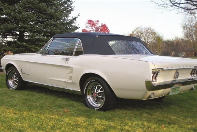 Samuelson's '67 Mustang convertible.