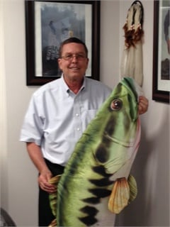 Fleet Manager Gregory Morris once scheduled a Pike Place Fish Market-themed training and the 5-ft. fish has since become the team's mascot. Photo courtesy of Sarasota County