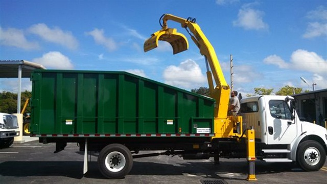 Sarasota County tested five grapple trucks before choosing one to purchase.