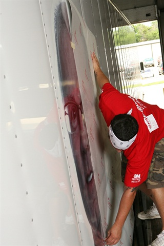 Make sure before you install vinyl graphics on to your trailer that the surface has been cleaned thoroughly.