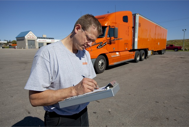Schneider National does extensive testing of fuel-saving options.