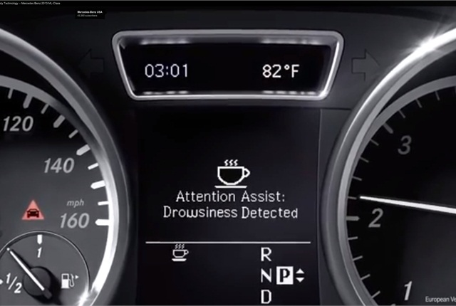 Mercedes-Benz's Attention Assist alerts the driver when there are signs of drowsy driving.
