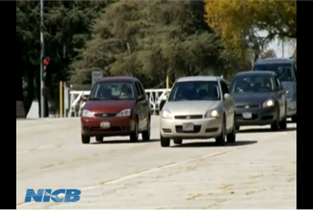 A scene from a National Insurance Crime Bureau video about staged crashes. NICB is a leader in the fight against such insurance fraud.