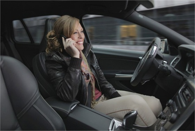 Self-driving vehicles will allow drivers to focus on other tasks, such as making phone calls to clients, without compromising safety. Photo: Volvo Cars.